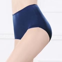 台灣製安心健康蠶絲蛋白高腰透氣呵護型 M-2XL 內褲 群青藍 可蘭霓Clany
