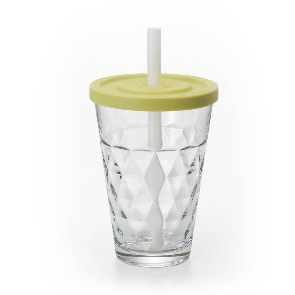 【ADERIA】日本進口Natural系列格紋玻璃杯(綠)