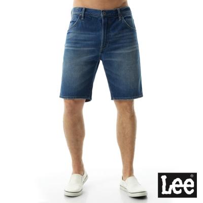 Lee 牛仔短褲 牛仔短褲/101+-男款-藍