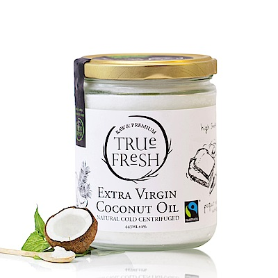 TRUE FRESH 天然冷離心初榨椰子油 公平貿易(443ml)