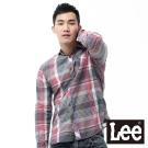 Lee 長袖襯衫 格紋-男款(暗紅)