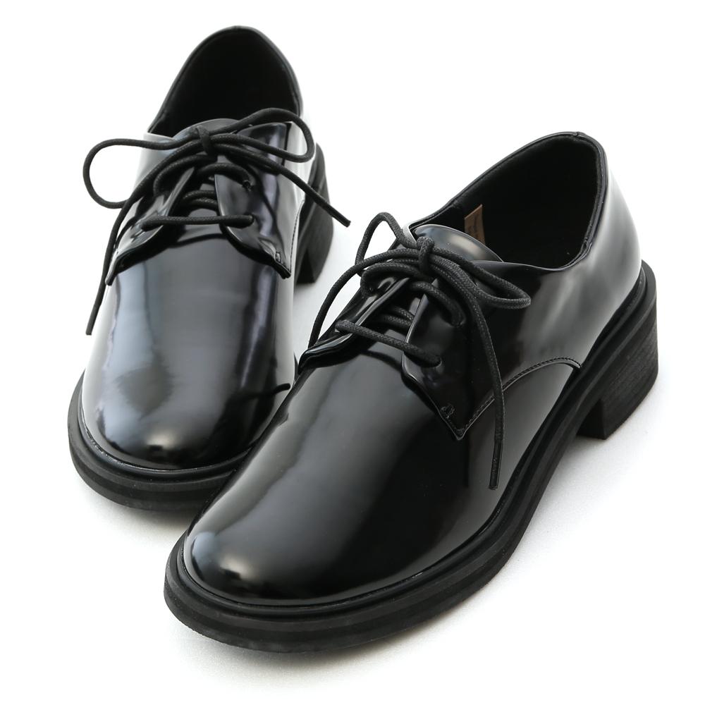 D+AF 個性攻略.基本款漆皮綁帶馬汀鞋*黑