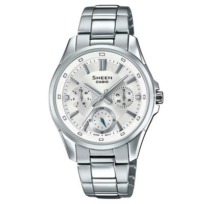 SHEEN優雅迷人風采羅馬數字時刻腕錶(SHE-3060D-7)白面X銀39mm