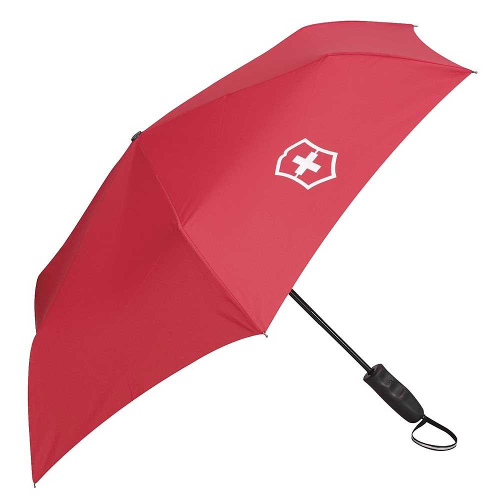 Victorinox 鈦金屬自動收合雨傘-紅