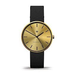 Newgate-DRUMLINE-古銅金-義大利皮革錶帶-40mm