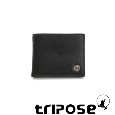tripose Yuppie系列三摺夾零錢袋短夾 - 咖