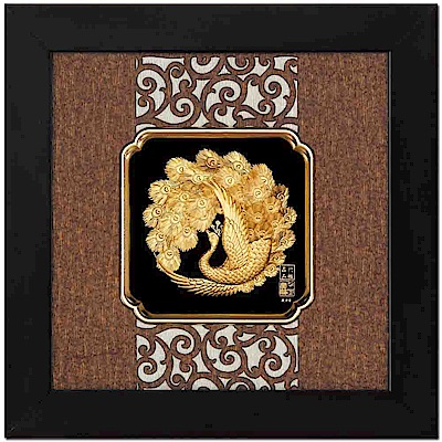 My Gifts-立體金箔畫-富貴吉祥(框畫系列24.5x24.5cm)