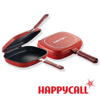 HAPPYCALL - 熱循環不沾煎烤壓力雙面精品鍋 - 1+1超值組
