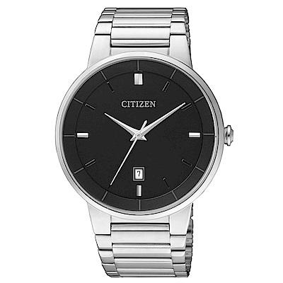 CITIZEN星辰 簡潔設計時尚腕錶(BI5010-59E)-黑/40mm