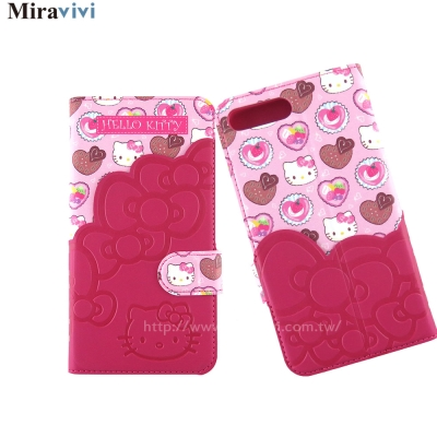 Sanrio三麗鷗iPhone 8/7 Plus口袋拼接彩繪皮革皮套