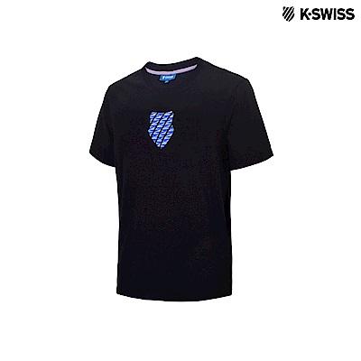 K-Swiss 3D HT Shied Logo Tee印花短袖T恤-男-黑