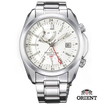 ORIENT STAR 東方之星 GMT系列 雙時區藍寶石機械錶-白色/41.5mm