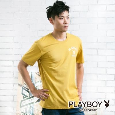 男內衣 PLAYBOY 流行兔頭LOGO彩色內衣(黃)