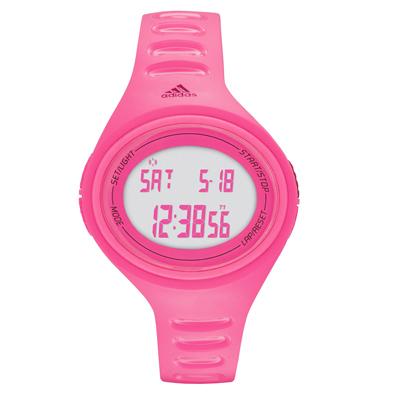 adidas 橢圓百搭數位電子腕錶-桃紅x小/37mm