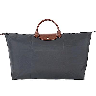 LONGCHAMP LE PLIAGE 摺疊尼龍大旅行袋(XL/深灰色)
