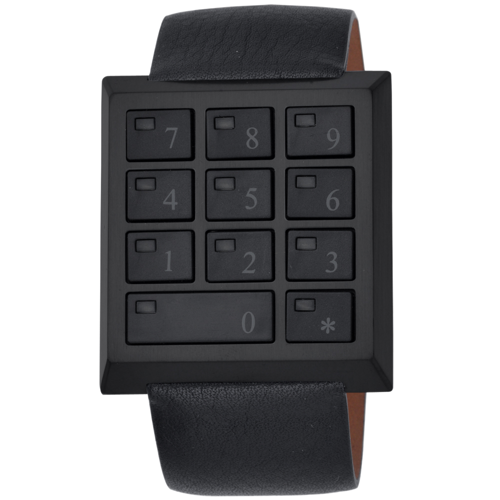 CLICK SAFE WATCH萬能鑰匙電子密碼錶-全黑/40mm