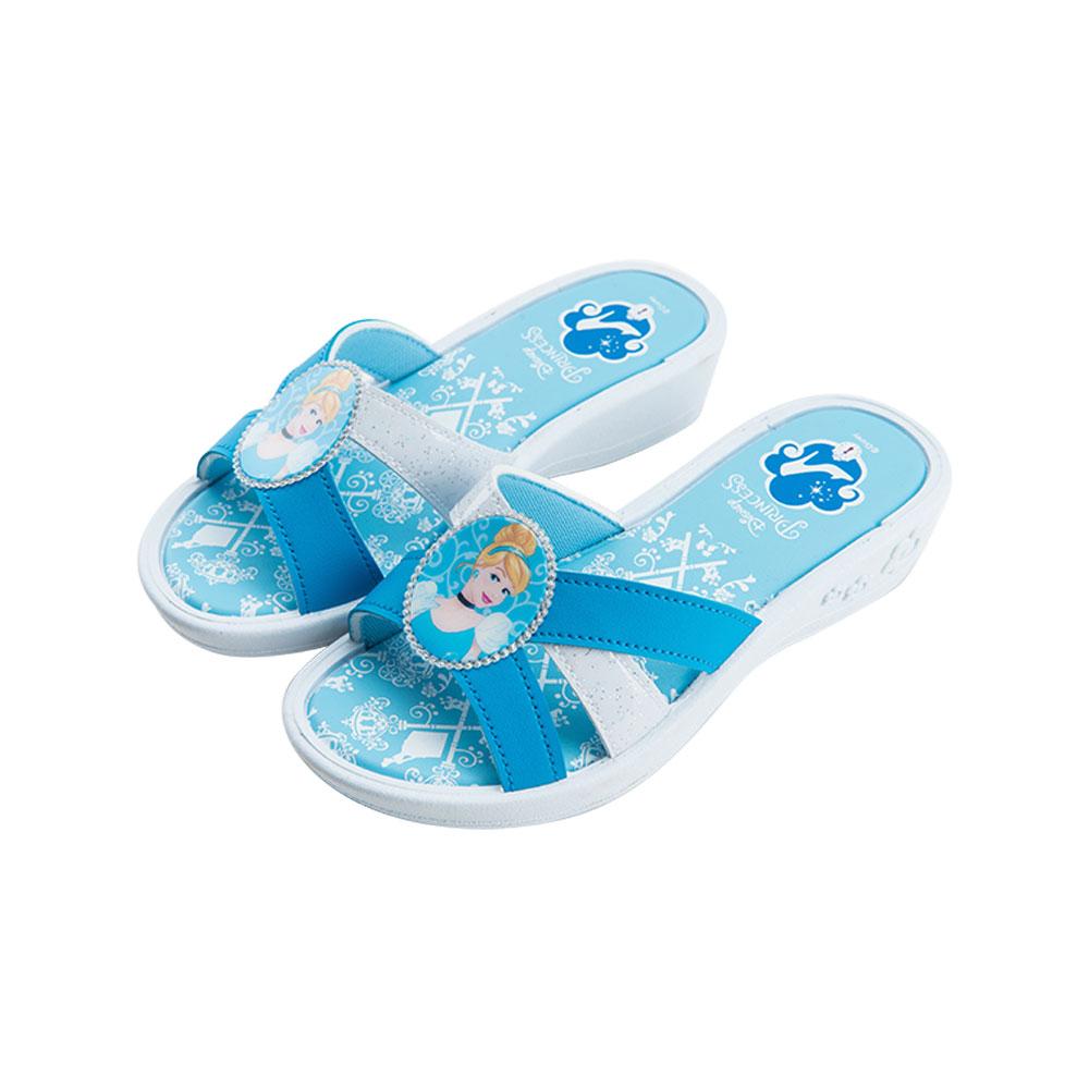 迪士尼童鞋 仙履奇緣 仙杜瑞拉公主 造型拖鞋-藍
