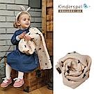 Kinderspel 寶寶保暖柔軟圍巾(橘粉菱格)