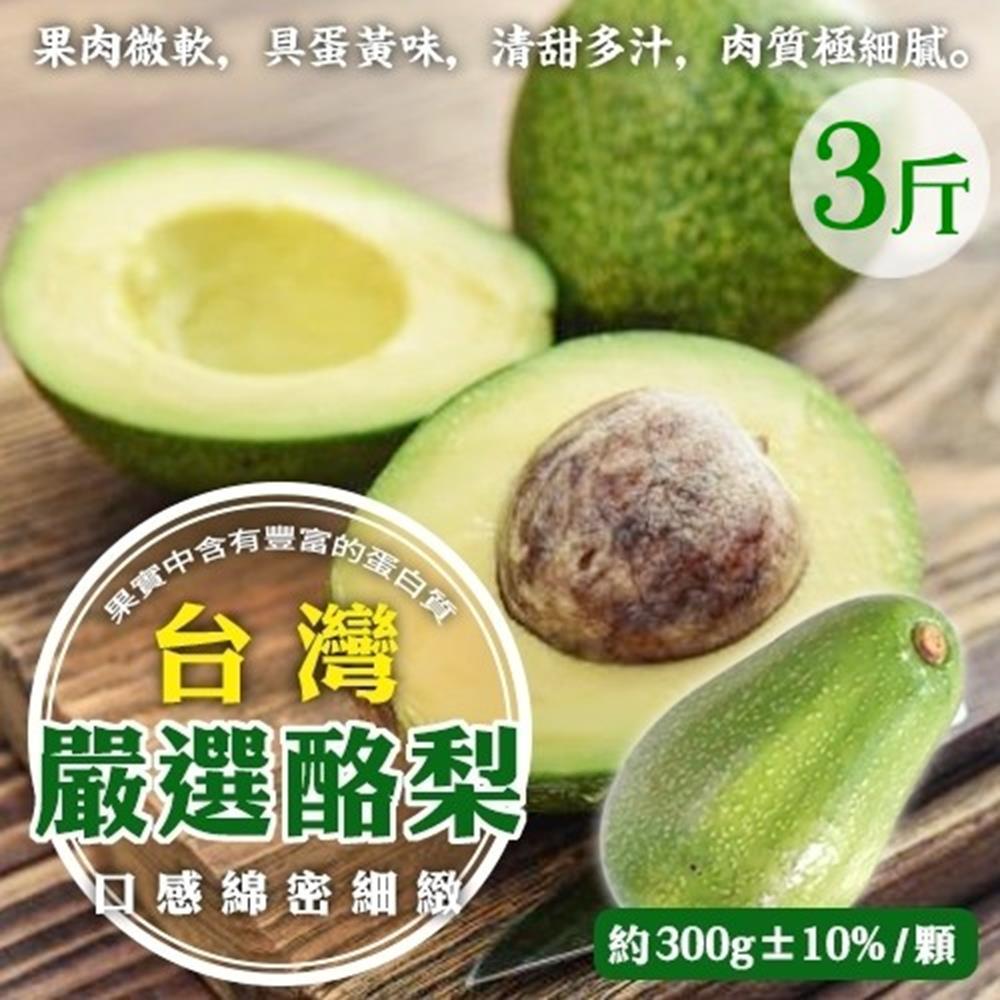 【天天果園】特選新鮮特大顆酪梨 x3台斤