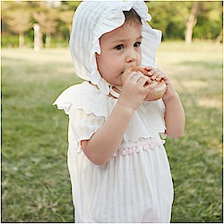 baby童衣 荷葉領短袖包屁衣 附帽子 80085
