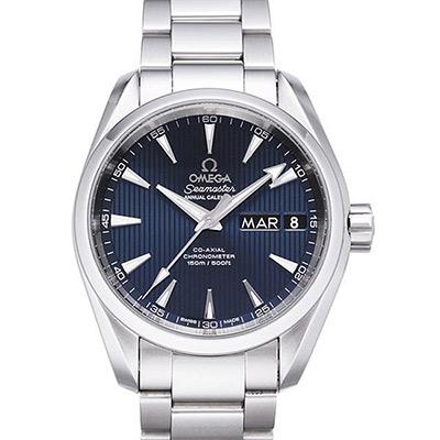 OMEGA 歐米茄 Seamaster Aqua Terra 年曆經典腕錶-藍/38.5mm