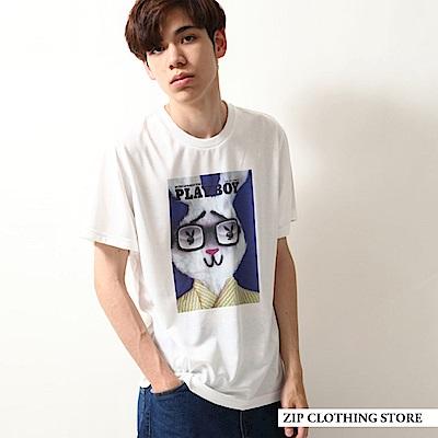 PLAYBOY印花短袖T恤(4色) ZIP日本男裝