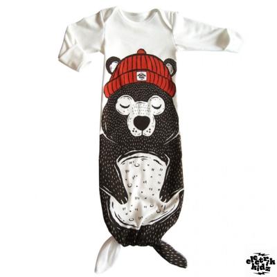 electrik kidz 加拿大 紅帽子大熊款兩穿式長袖連身睡衣