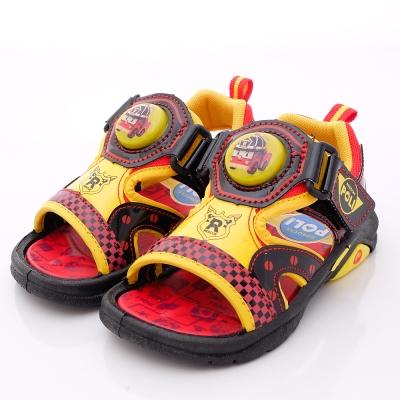 日本櫻桃嚴選童鞋-POLI電燈涼鞋款-51202紅黑(中大童段)N