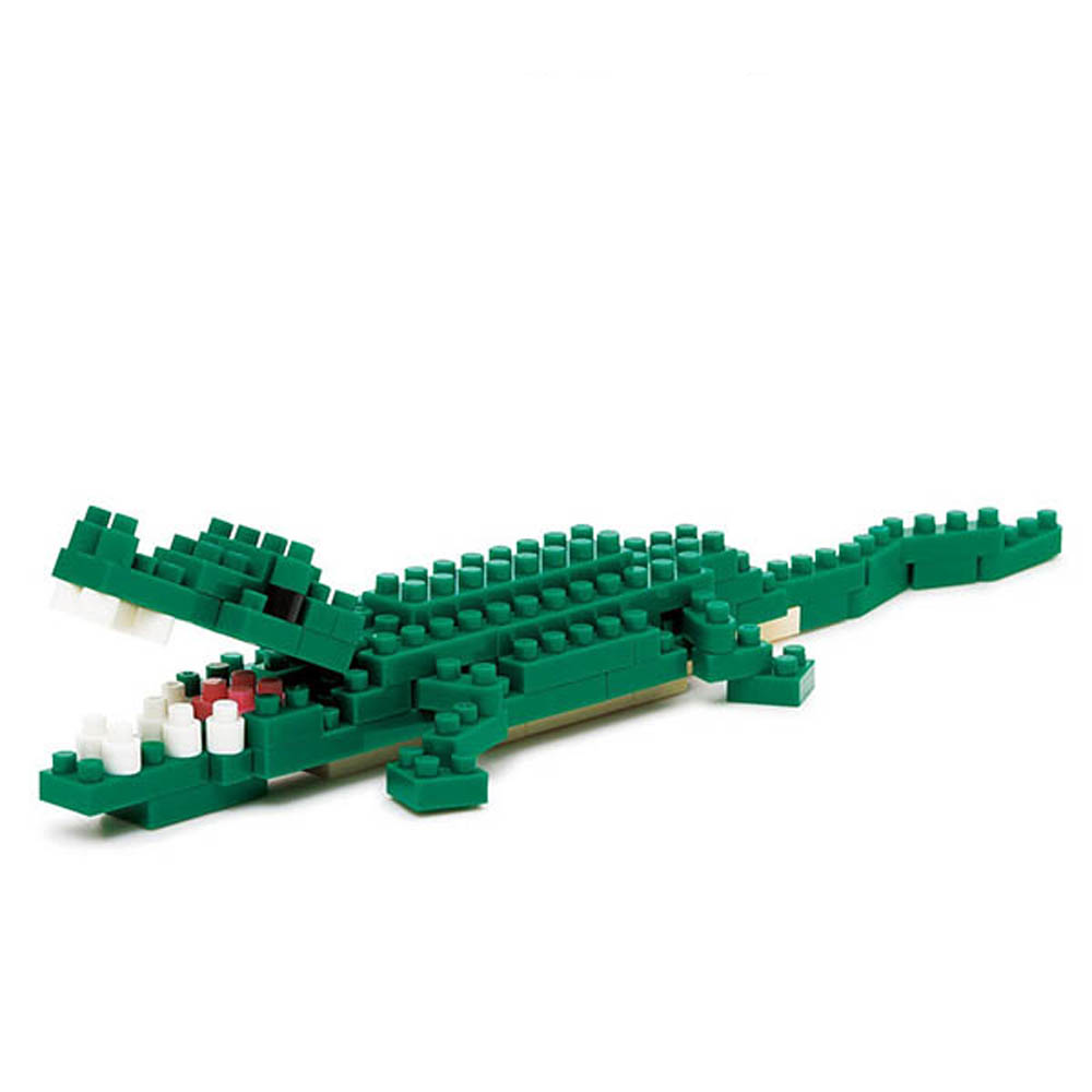 【KAWADA河田】nanoblock迷你積木/動物系列/鱷魚 NBC-058