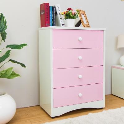 Birdie南亞塑鋼-貝妮2.2尺粉色塑鋼四斗櫃-67x46x97cm