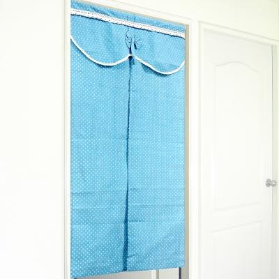 布安於室-悠閒藍中開式門簾