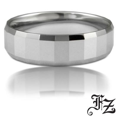 FZ 方格切面鎢鋼戒指(美圍9號)