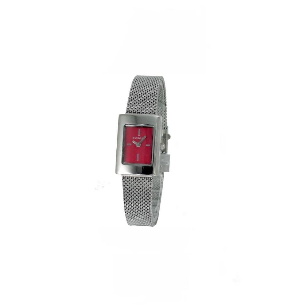 MORGAN 品味人生米蘭時尚女錶-桃紅色/19x26mm