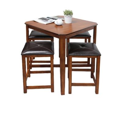 CASA卡莎 復古濃郁禪風吧台桌椅組(1桌4椅)