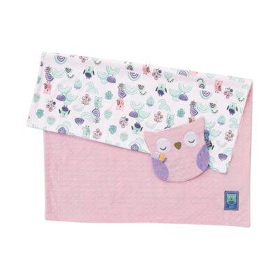 奇哥 PUP豆趣毯+安撫巾禮盒-粉紅
