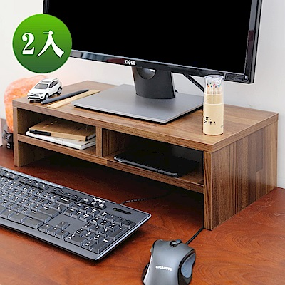 BuyJM 工業風低甲醛雙層桌上螢幕架2入/寬54x深24x高16.3公分-DIY