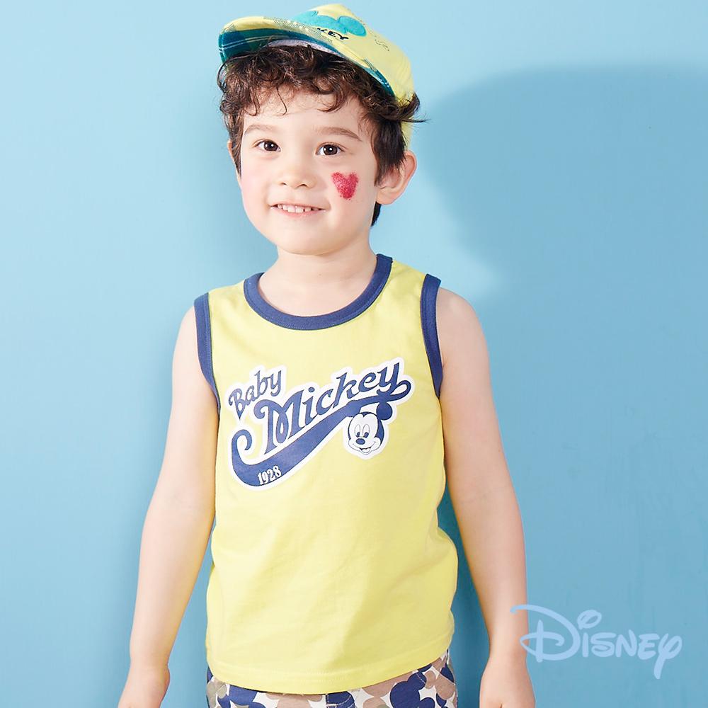 Disney 米奇美式運動背心 黃色