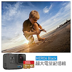 GoPro-HERO6 Black 運動攝影機超大電量記憶