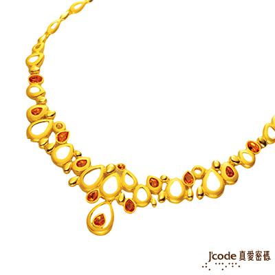 J code真愛密碼金飾 幸福滿溢純金項鍊 約11.65錢