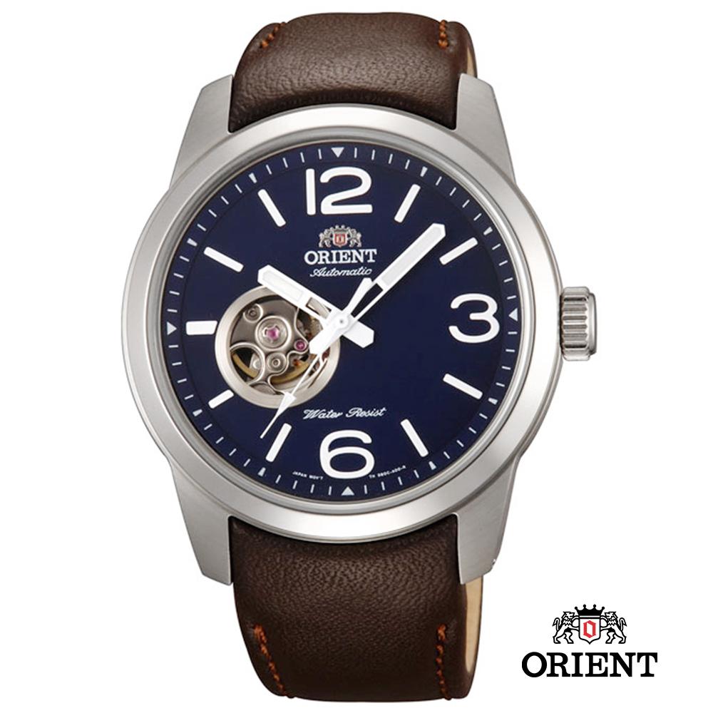 ORIENT 東方錶SEMI-SKELETON 系列 小鏤空機械錶-藍/42.5mm