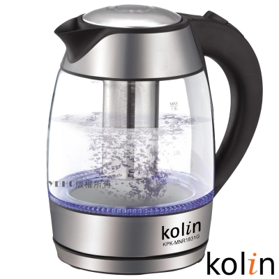 歌林Kolin1-8L泡茶玻璃快煮壺KPK-MNR