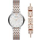 Armani 流星許願琉璃珠風格套錶組合(AR80016)32mm