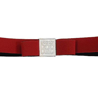 SAVE MY BAG 義大利品牌 MISS系列 石榴紅蝴蝶結裝飾帶
