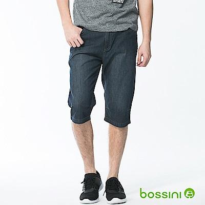bossini男裝-牛仔休閒短褲02深靛藍