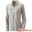 Wildland 荒野 W1201-83白卡其 女 拉鍊可調節抗UV襯衫