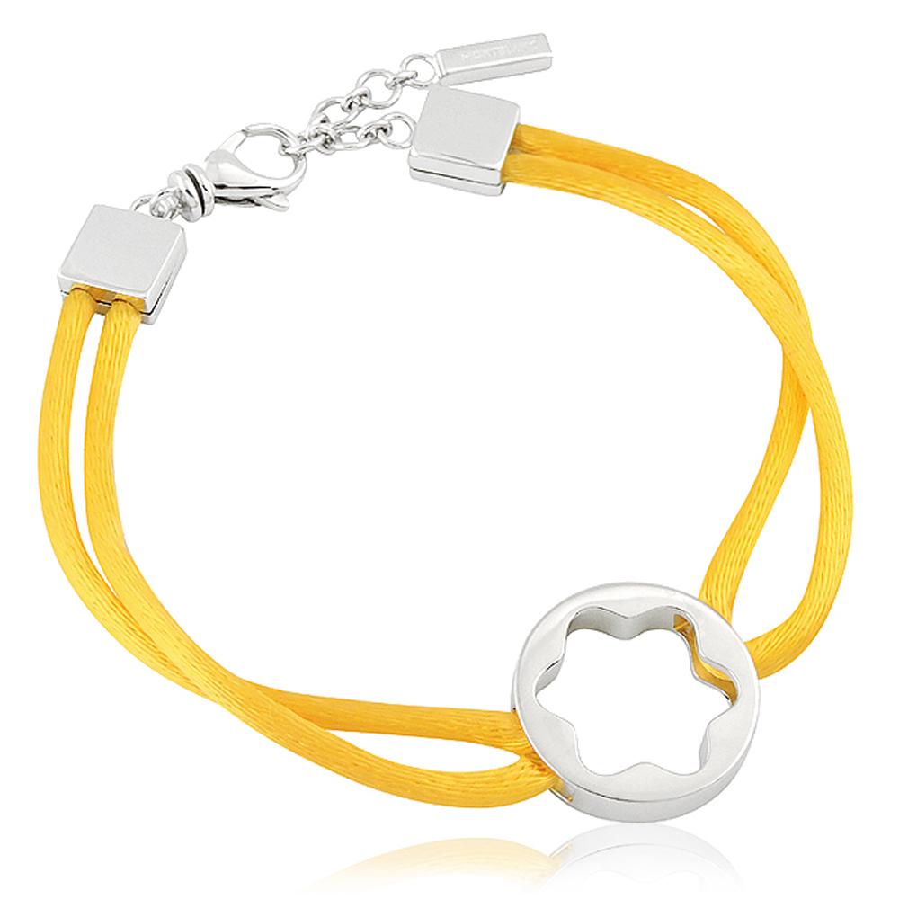 MONT BLANC 黃色六角星純銀手鍊