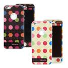 Miravivi iPhone5/5S/SE 繽紛巧克力豆豆時尚雙面彩繪保護貼