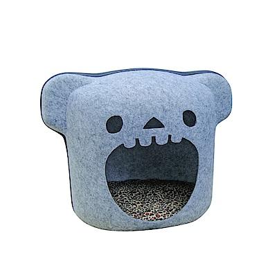 MDOBI摩多比-貓丸家 犬貓用 拉鍊毛氈窩(大嘴貓款)