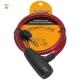 月陽10mm粗80cm長自行車鎖鋼纜鎖(1380)-顏色隨機 product thumbnail 1