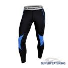 SUPERFEATURING 專業跑步三鐵 Hicolor壓縮緊身褲 亮藍 - 快速到貨